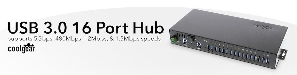 USB3-16U1 16 Port Hub