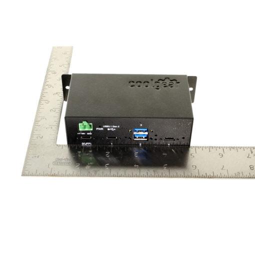 Metal 4 port USB 3.1 hub size