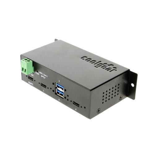 Metal 4 port USB 3.1 hub heat distribution