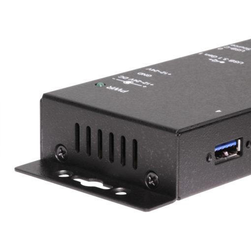 4 Port USB 3.1 Gen 1 Hub with PD Type C Source Port, 12~24V