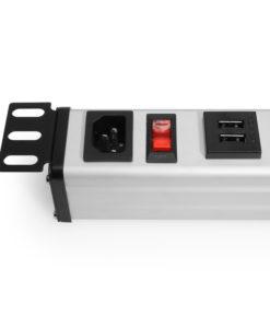 18 port USB Charging Strip for 19″ Rack Mount installs 1U