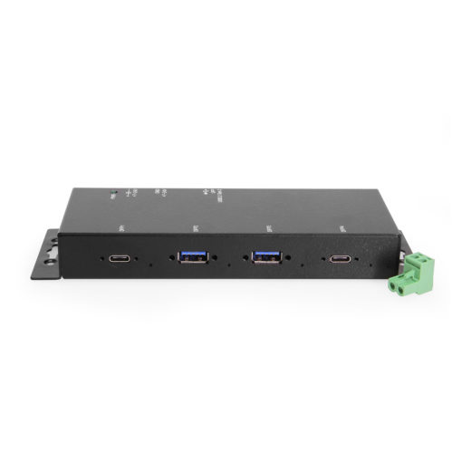 Port USB 3.2 Gen 2 Industrial Hub Type C x 2 Type A x2 with/ 15KV ESD Surge Protection