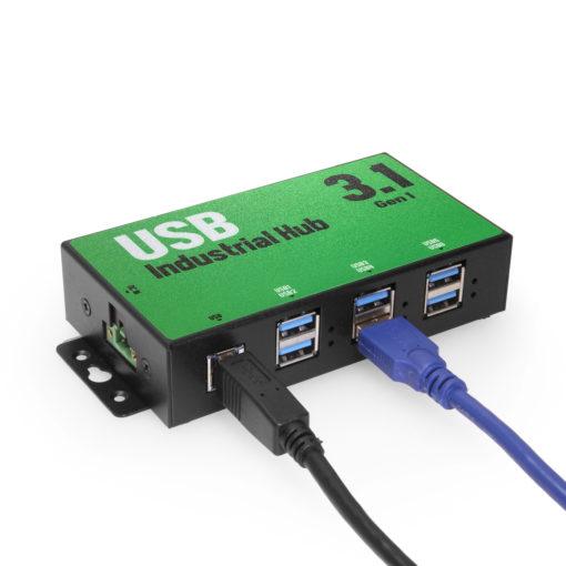 6-Port USB 3.0 Hub enclosed in a Rugged Metal Case