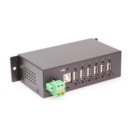 6 port Managed USB 2.0 Hub w/ 15KV ESD Surge Protection