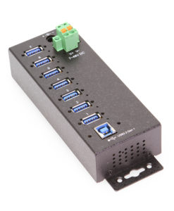 7 Port Managed USB 3 Hub w/ 15KV ESD Surge Protection