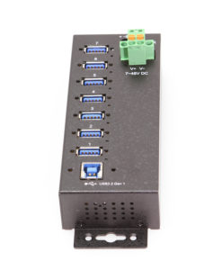 7 Port Managed USB 3 Hub w/ 15KV ESD Surge Protection & On/Off Per Port Control Software