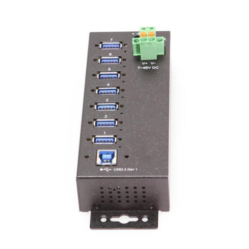 7 Port Managed USB 3.2 Gen 1 Hub w/ 15KV ESD Surge Protection
