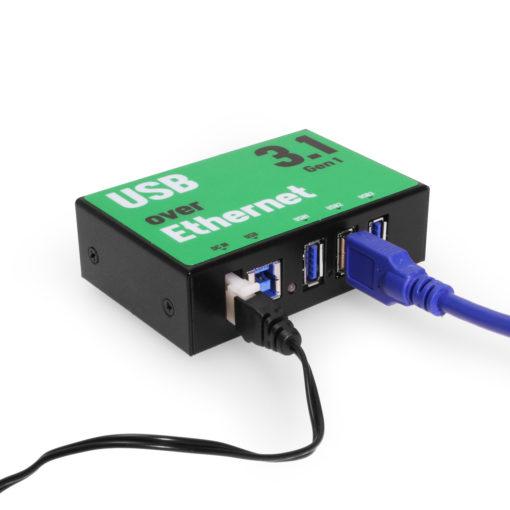 3-port SuperSpeed USB 3.1 over IP Hub